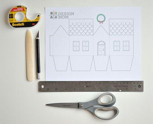 House Gift Box Free Printable