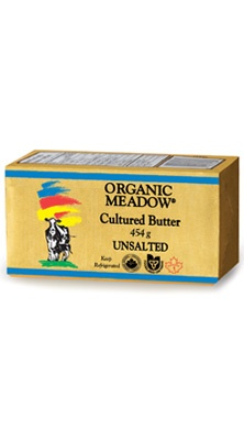 Organic Meadow - Our Products » Organic Butter » Organic Unsalted Cultured Butter