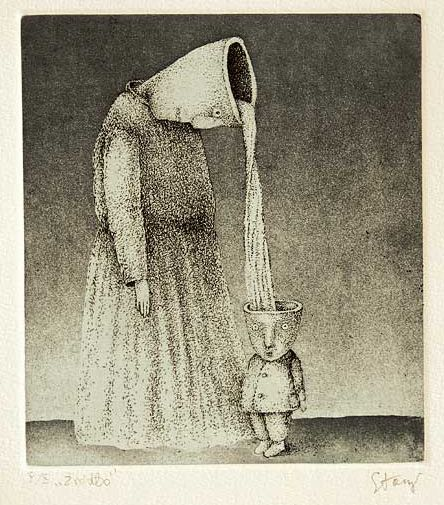 Well, 1987, etching/aquatint, 22x20 cm