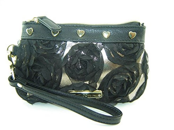 Betsey Johnson Pretty Girl Wristlet Purse Black Multi