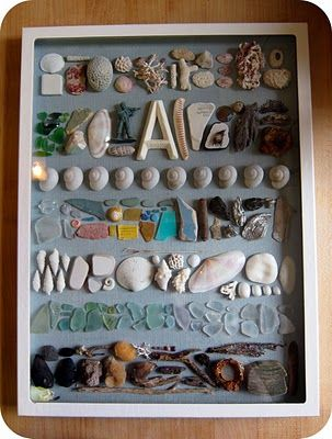 beach memory box (THIS is what to do with that baggie of stones & shells & random beach bits)