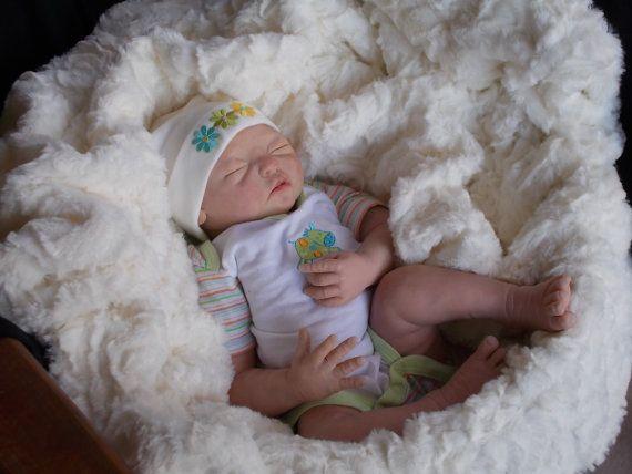 Baby Girl Doll OoaK newborn polymer clay by Babies4Hugs on Etsy