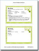 Finally cards that can be printed onto index cards!! Free Recipe Card Template