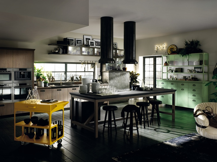 #MadeInItaly brands for a modern kitchen: Diesel's style joins forces with Scavolini's know-how | Diesel Social Kitchen