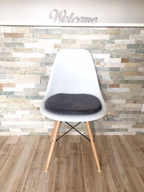 Sitzkissen für Eames Chair mit Reißverschluss grau Fur, Eames