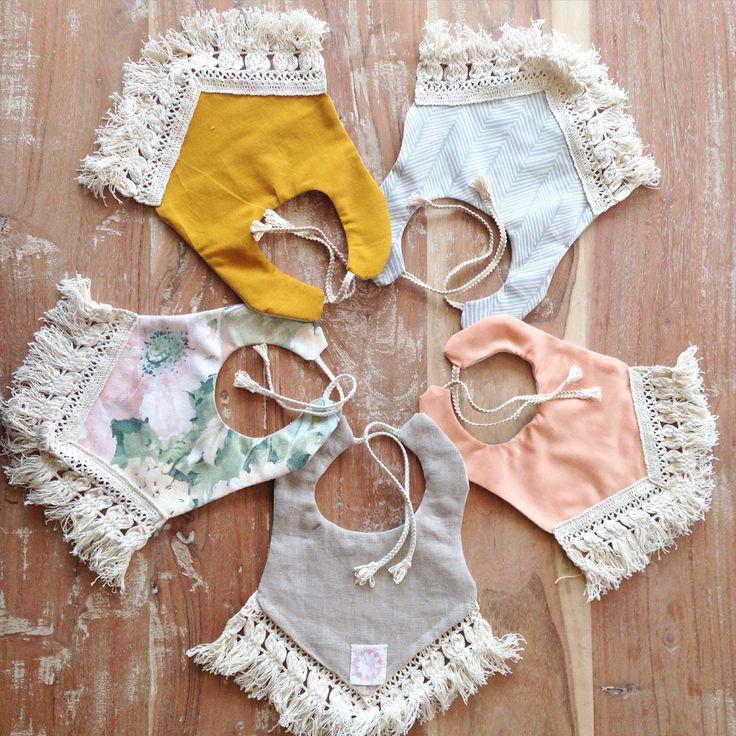 Baby Boy Bib Baby Gift Fringe Bib Modern Baby Clothing Pom Pom Bib Tassel Bib Baby Girl Accessories Geometric Boho Baby Bib