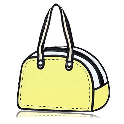 3D Drawing Paper Messenger Bag Shoulder Strap School Bags for Teens GirlsYellow -- See this great product. - sack bags online, shop bag, luggage bags *ad