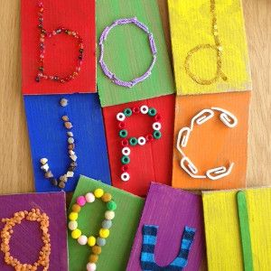 Touch 'n Learn Alphabet Cards (from All Free Kids Crafts)