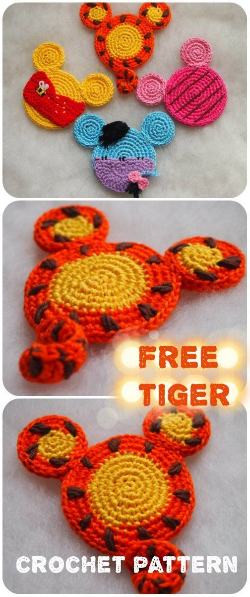 Tiger from Winnie the Pooh crochet pattern.