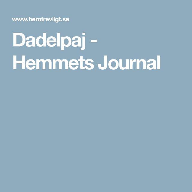 Dadelpaj - Hemmets Journal