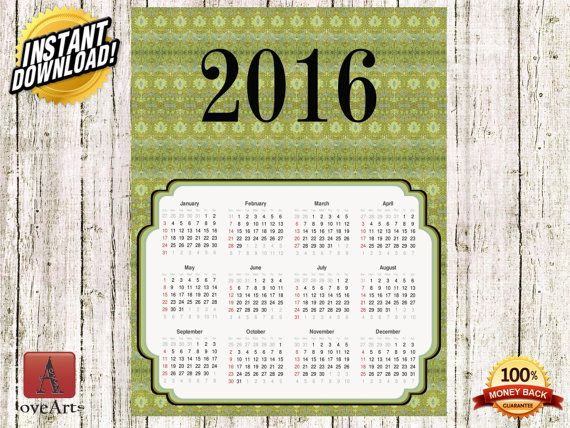Hey, I found this really awesome Etsy listing at https://www.etsy.com/listing/257039751/instant-download-vintage-calendar-2016