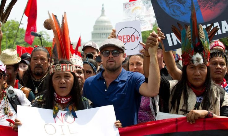 "Leonardo DiCaprio was front and center during the People's Climate March in Washington, D.C. The actor and activist shared on Instagram, ""Today's #ClimateMarch leaves me inspired and hopeful for our future on this planet. We must continue to work together and fight for #climatejustice. The time is now."""