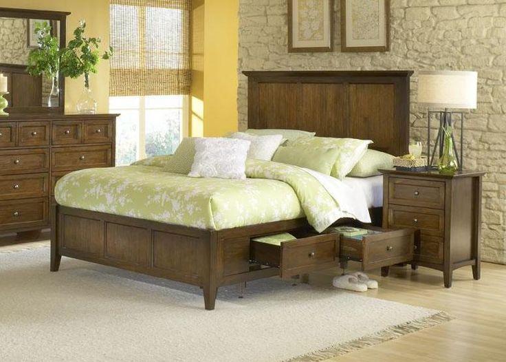 4 Piece Modus Kentfield Solid Wood Bedroom Set: Modus Furniture Paragon Storage Bedroom Set