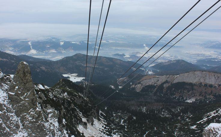 Cable car up to the Tatra Mountains, Zakopane, Poland. www.travellinghistory.com
