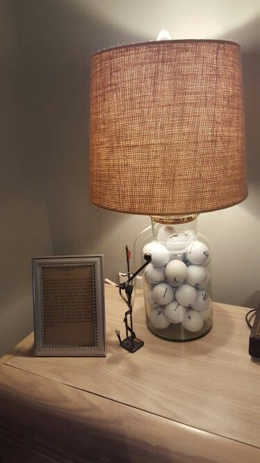 Golf Room at Beach Condo - Golf Lamp Vignette
