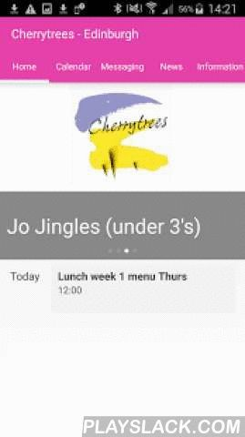 Cherrytrees Edinburgh  Android App - playslack.com , Cherrytrees nursery Edinburgh provide professional, comprehensive childcare. Our commitment is to provide the highest standard of care for your child within a homely, stimulating and fun environment. If you have a child at Cherrytrees nursery Edinburgh you can create your own personal view of the full calendar of events and activities and school news.No more out-of-date paper calendars, searching through letters from the nursery or…