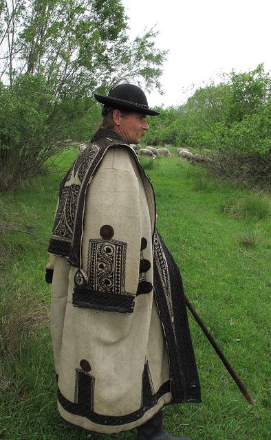 Hungarian Shepherd in traditional coat