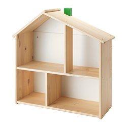 In dit poppenhuis kan je kind een huis voor z'n poppen inrichten en met ze spelen. Als je kind ouder wordt, kan het poppenhuis worden gebruikt als open kast voor boeken, foto's en andere spulletjes die je kind wil laten zien.