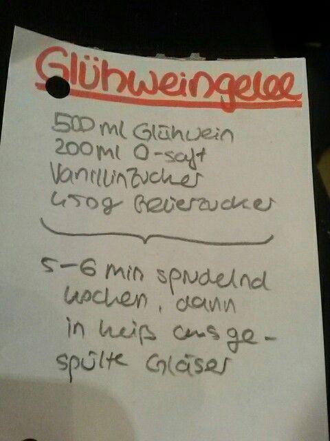 Glühwein Gelee Brotaufstrich süß selber machen Marmelade  Auch alkoholfreie Variante