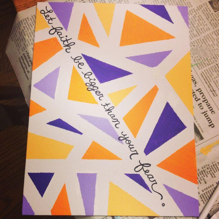 Quote canvas #DIY