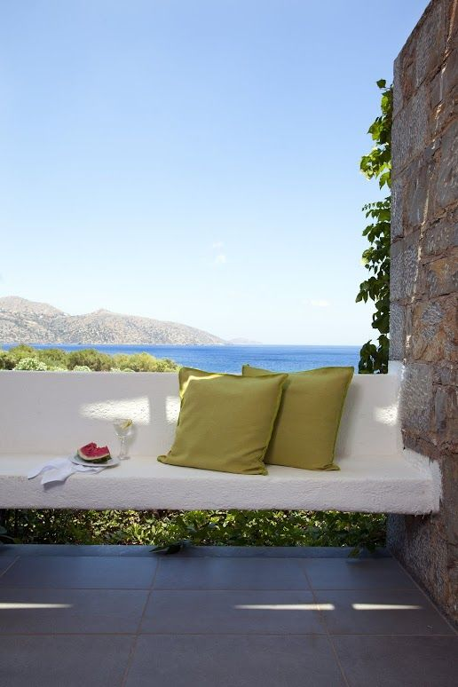 Terrace of a seaview bungalow at #MinosPalace #Crete