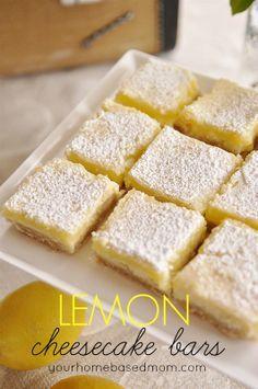 lemon cream cheese bars  - the best lemon bar ever!