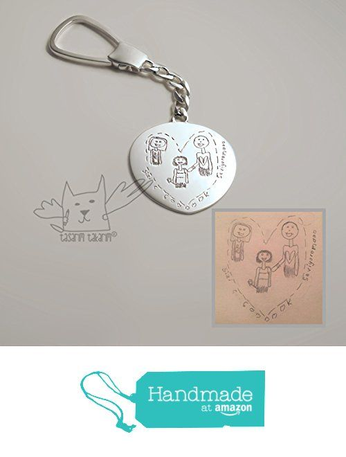 Personalized Keychains, Custom made sterling silver keychains from your children's drawings, one-of-a-kind gift, gift for him from Tasarim Takarim https://www.amazon.com/dp/B01N287XOR/ref=hnd_sw_r_pi_dp_yiuTyb34V1H7R #handmadeatamazon
