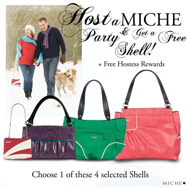 Be a Miche Hostess and receive a Free Shell and even MORE with our Miche Hostess Rewards! It's a wonderful time to be a Miche Hostess! *Miche Canada* #michecanada #michefashion #improveyourlife #letsparty #directsales #fashion #style #purses #handbags #accessories