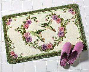 Best Pink Bathroom Accessories Ideas On Pinterest Pink - Floral bathroom rugs for bathroom decorating ideas