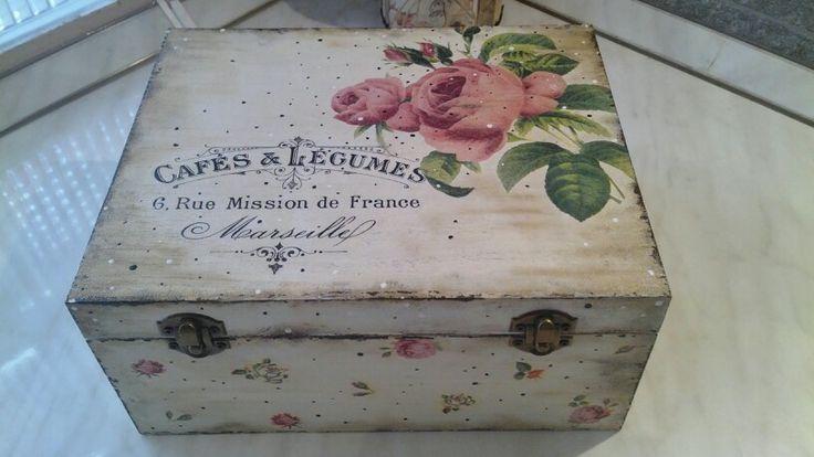 DIY decoupage wooden box