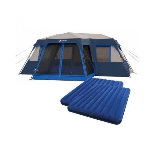 12 Person Tent Instant 2 Room Cabin Outdoor Hiking Family Camping Queen Airbeds #OzarkTrail #CabinStyle