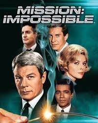 """Mission Impossible"" (1966-73) on TV. I watched it weekly and had a crush on the curvy woman cast member called ""Cinnamon Carter,"" well played by Barbara Bain."