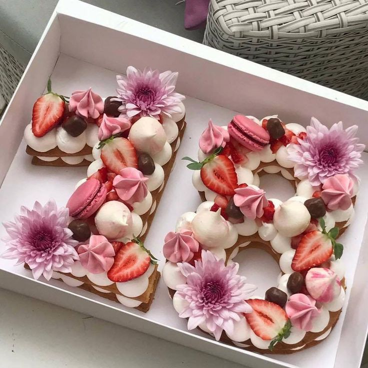New trend of 2018 - floral number cake