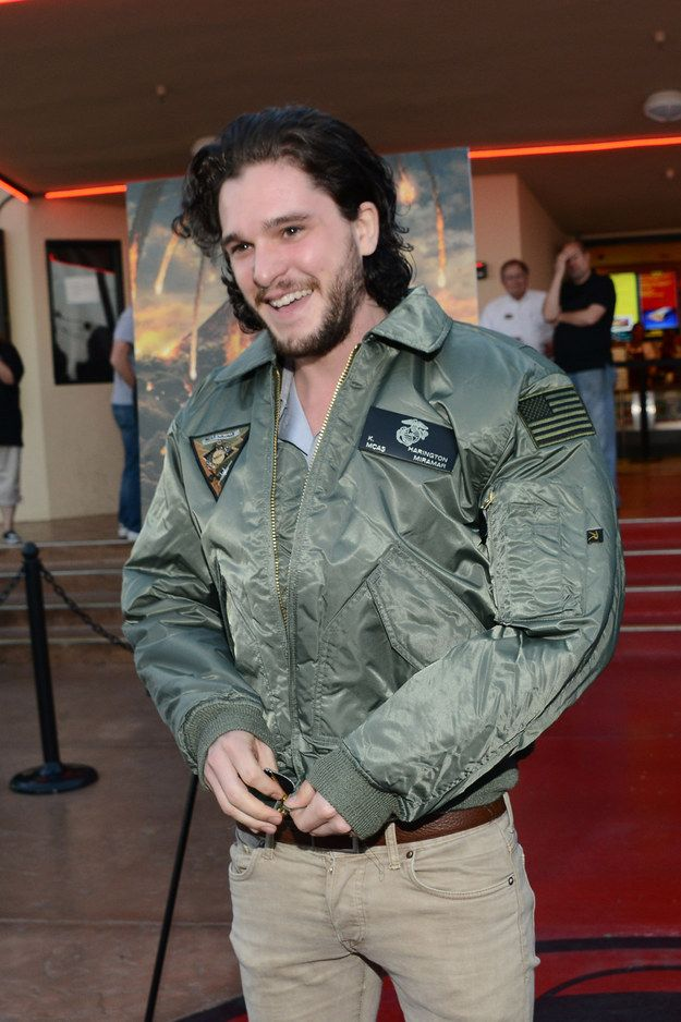 This look of pure happiness. | 14 Reasons Kit Harington Is Absolutely Perfect