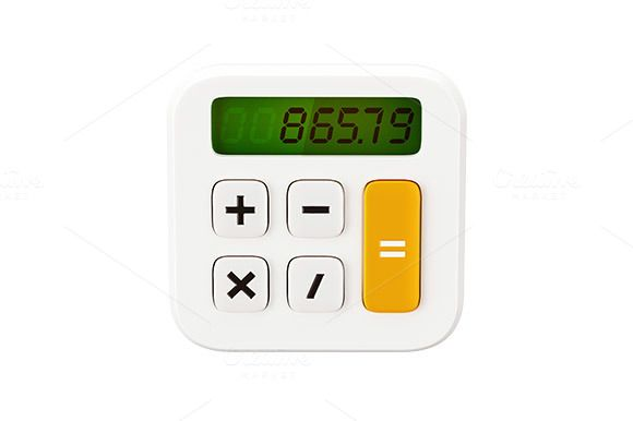 Math Calculator 3D Icon by vladut'shop on @creativemarket