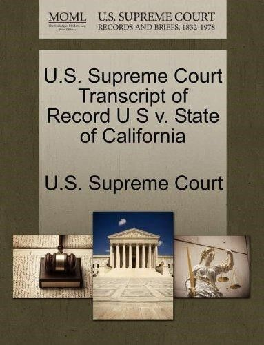 U.S. Supreme Court Transcript of Record U S V. State of California