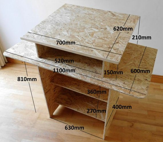Standing Space Saver Mosaic Craft Table by PebbleAndMosaic on Etsy
