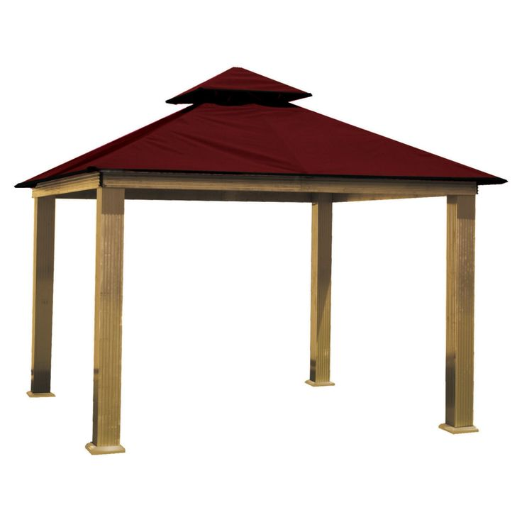 ACACIA by Riverstone Industries STC Seville 12-ft. Gazebo Replacement Canopy - STC12-SD BLACK
