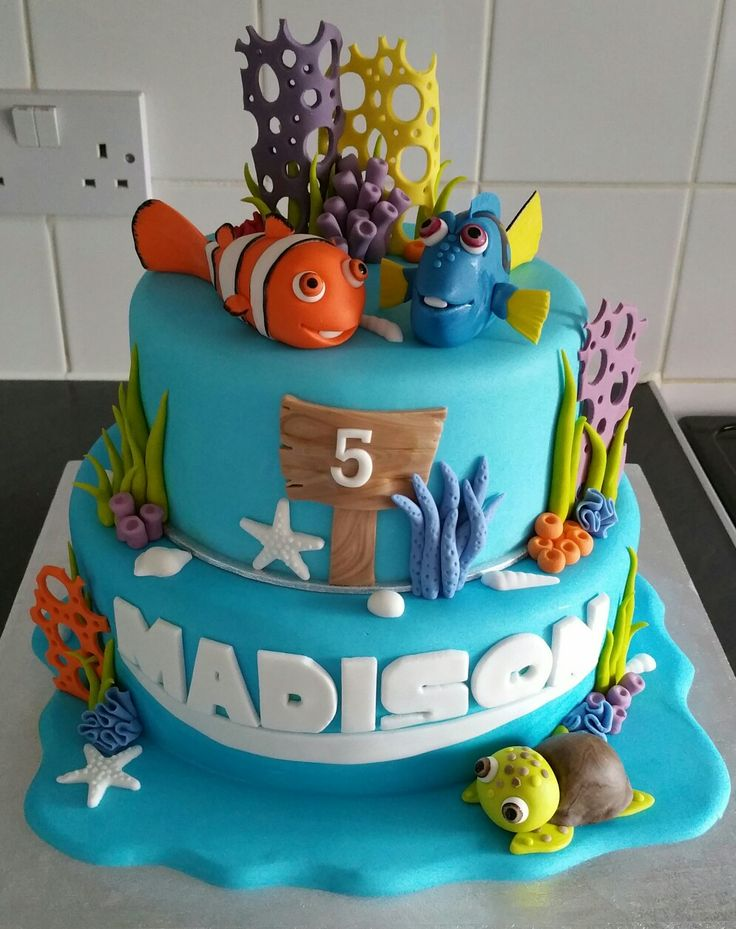 how to make finding nemo cake