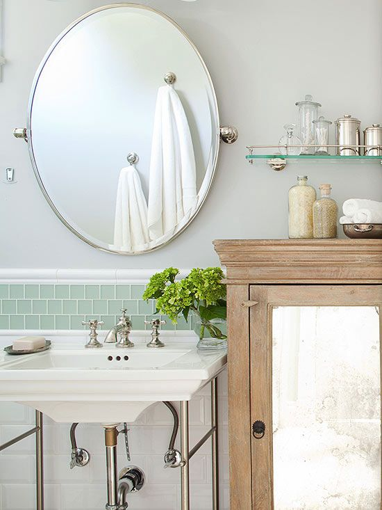 984 best flea market finds images on pinterest furniture - Farmhouse style bathroom mirrors ...