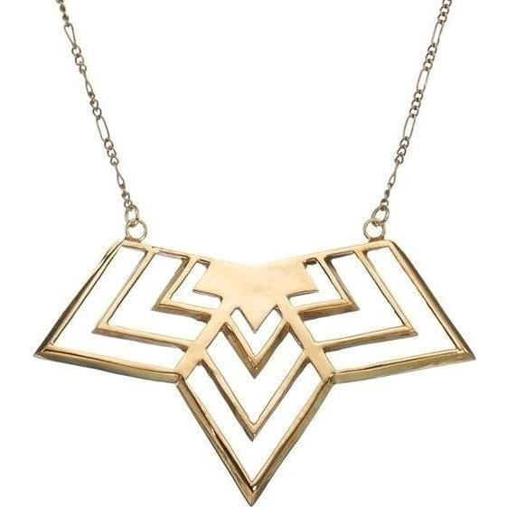 Rachel Bilson wearing Gillian Steinhardt Gold Three Point Van Halen Necklace.