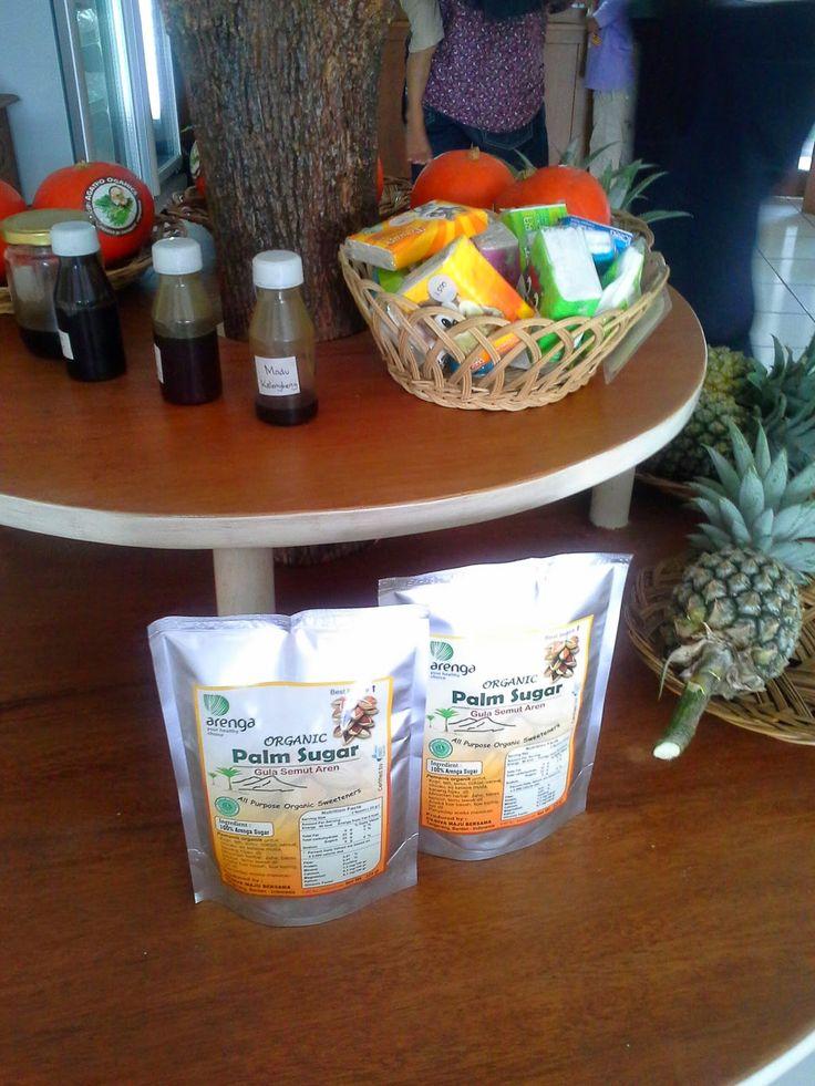 Palm sugar in shelf