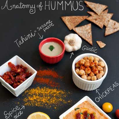 Healthy garbanzo bean, chickpea hummus with sun-dried tomatoes, olive oil, lemon juice, tahini, smoked paprika, tomato paste, garlic. Diet dip recipe.: Food Recipes, Olives Oil, Healthy Eating, Whole Food, Tomatoes Hummus, Sun Dry Tomatoes, Hummus Recipes, Dips Recipes, Summer Recipes