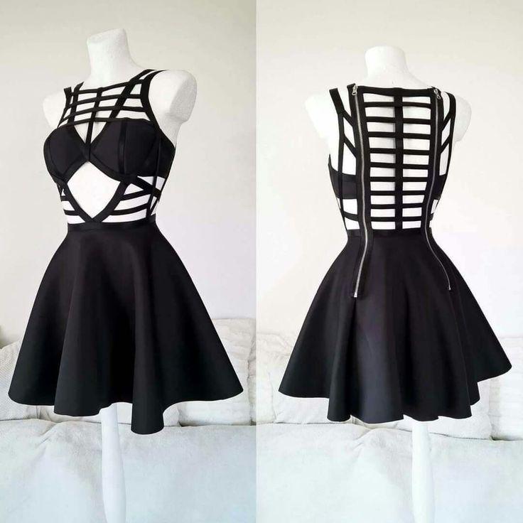 Goth, Dark, Black Dress