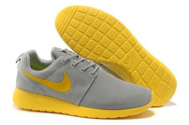 UK Trainers Roshe One Nike Roshe Run Mesh Junior Womens Gray Yellow Draw Black Firday