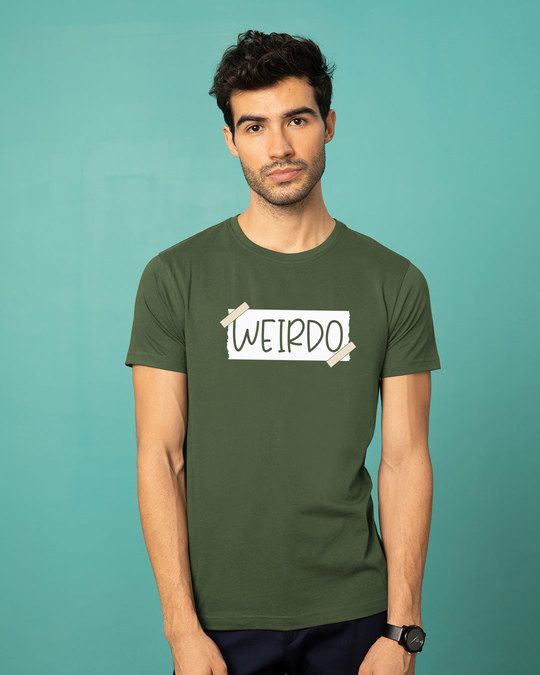 8970f773 Buy Ajeeb Half Sleeve T-Shirt For Men online in India, Choose from a wide  range of T-Shirts For Men at Bewakoof.com