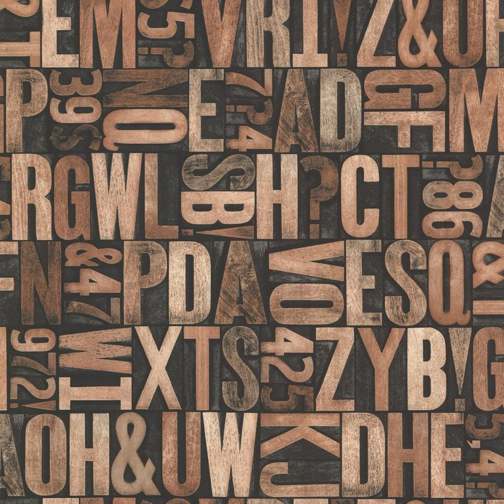 Brewster Great Scott Alphabet Wallpaper - 2686-21249