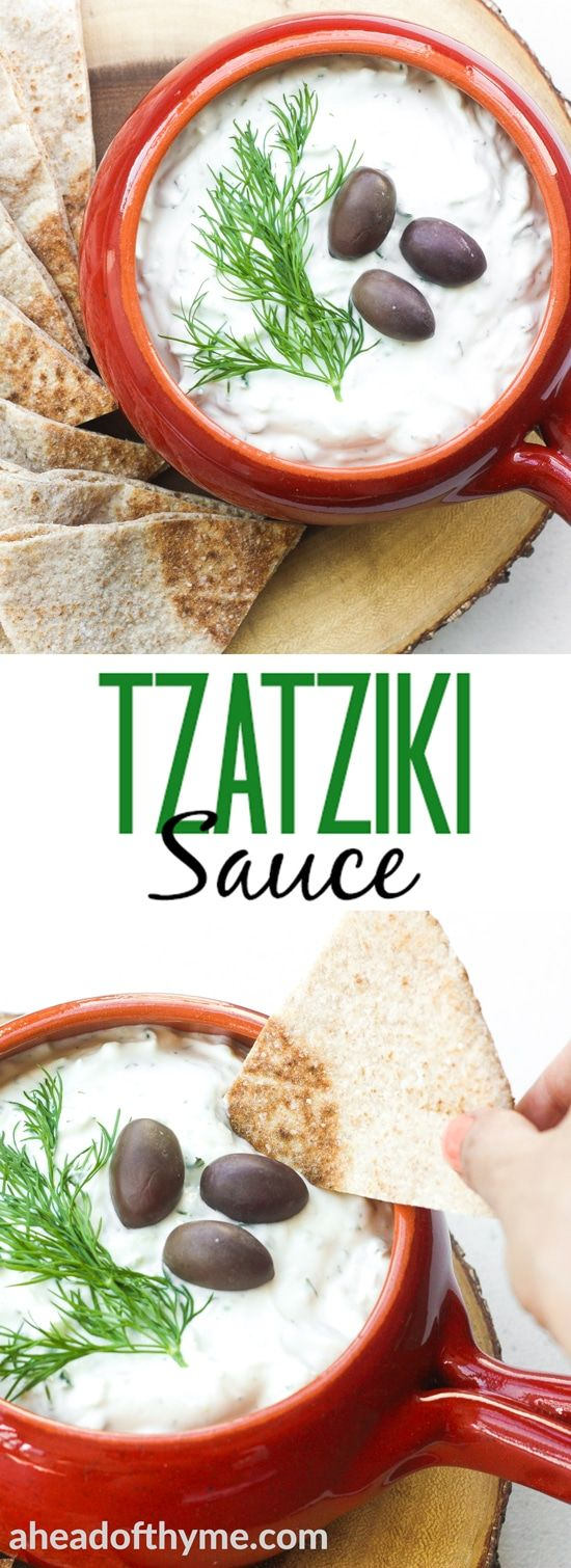 Looking for the perfect dip that goes with everything? Make classic, refreshing and cool tzatziki sauce in just a matter of minutes.   aheadofthyme.com via @aheadofthyme