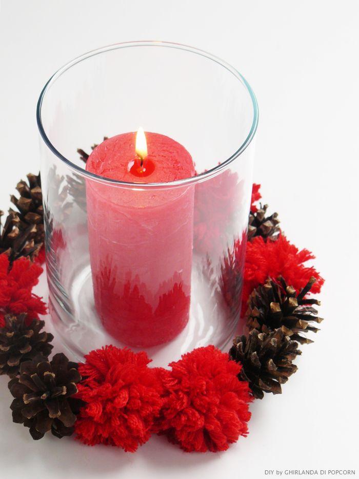 candle decor 1 Ghirlanda di Popcorn Allestimenti di nozze con lana vetro e candele