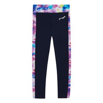 Pineapple Girls' navy space dye print leggings | Debenhams